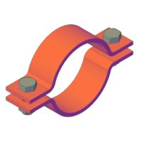 ON130600 Two-parts pipe clamp