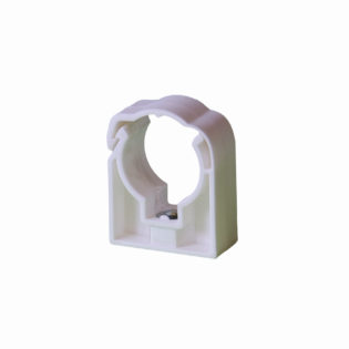 Simple plastic pipe clips for PLASTIC pipes – white
