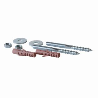 Set of screw-bolts for hot-water boiler fixing