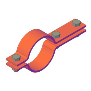 ON130602 Two-parts pipe clamp