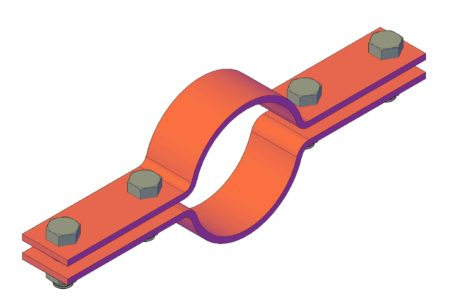 ON130604 Two-parts pipe clamp