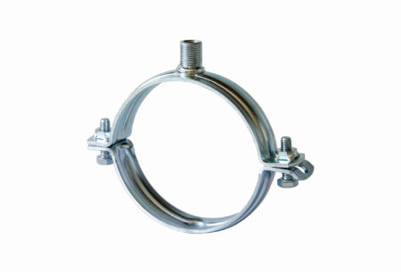 Pipe clamp MASIV (heavy duty) without rubber lining with head UNI