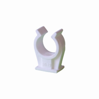Cpr plastic pipe clip and Cpr plastic pipe clip with thread M6 for copper pipes and cable distribution systems