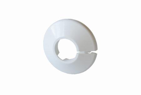 Plastic single pipe cover (rosette)