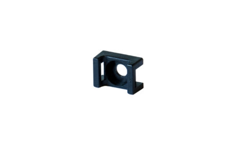 Saddle-type cable tie mount